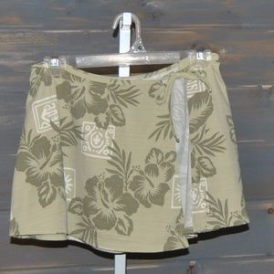 Tommy Bahama Green Tropical Swimsuit Cover Skirt S